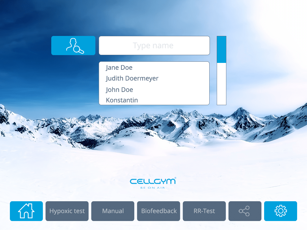 Cellgym CellAir One 2.0 Search Existing User 1024x768 n