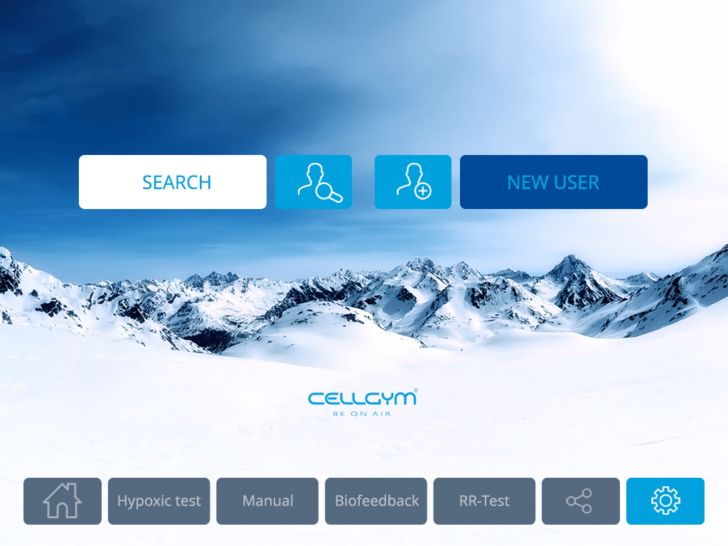 Cellgym CellAir One 2.0 Search New User 1024x768 Correction